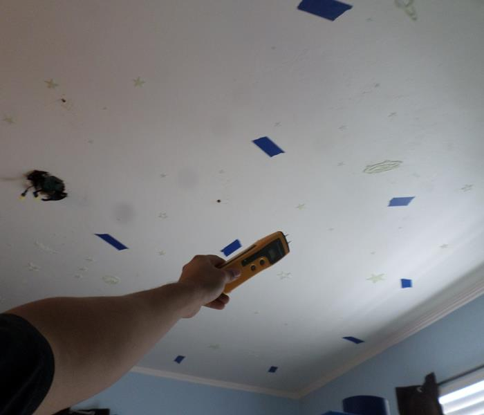 Over-saturated Ceiling Before