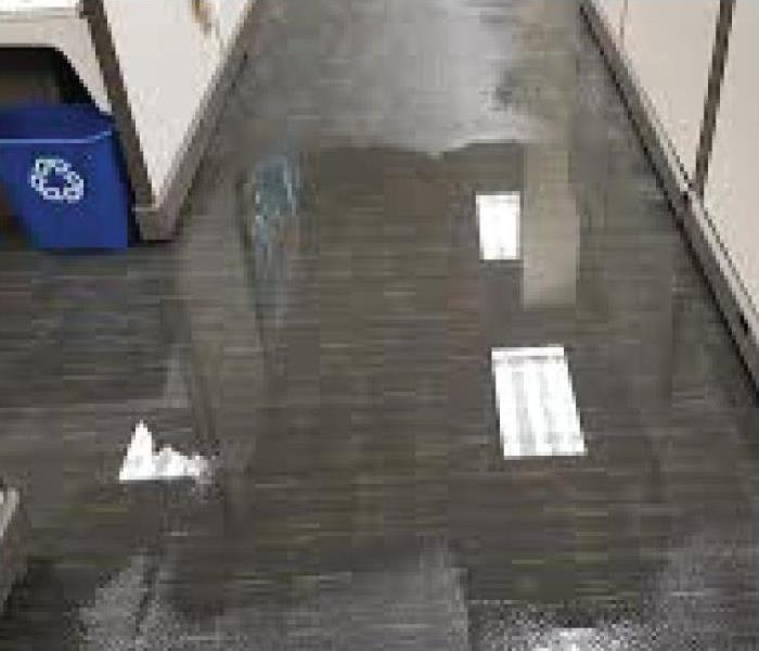 a picture of an office with a flood